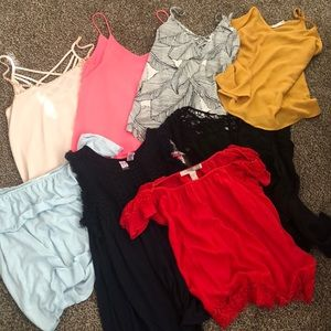 Bundle of small tank tops
